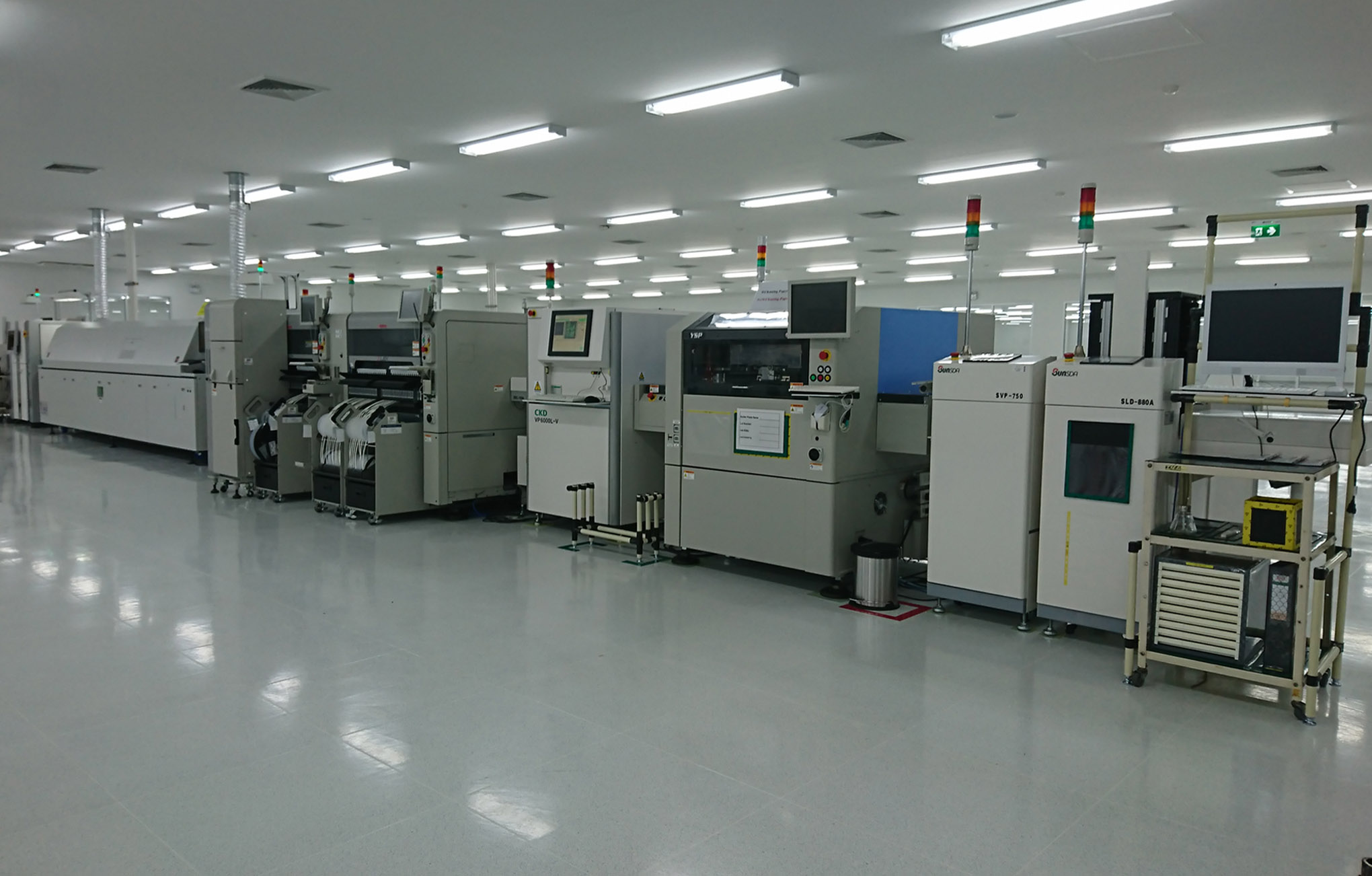 アイエム電子タイの工場の写真